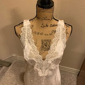 NWOT Lace and satin nightgown.   Never worn.